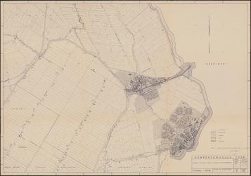 KA2_00031 Thematische kaart, gebaseerd op een deel van de Topografische Kaart van Nederland (19 Oost, Alkmaar), waarop ...