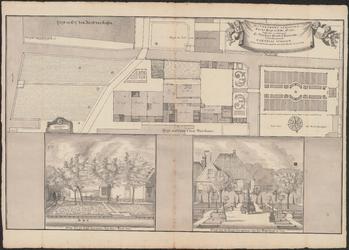 PR1_map-1_00009 Plattegrond van het huis en erf van Cornelis Schoon te Broek in Waterland, als mede twee tekeningen, ...