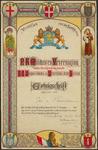 PR1_map-1_00010 Getuigschrift uitgereikt aan Jan van Vlaanderen voor trouwe dienst in het garnizoen Amersfoort en ...