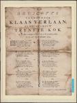 PR1_map-1_00014 Feestlied ter gelegenheid van de bruiloft van Klaas Verlaan en Trijntje Kok, gehouden op 26 september ...