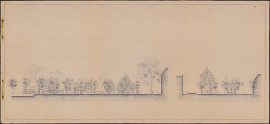 TT1_00006 Tekening van de oostelijke gevelwand van het Jan Nieuwenhuizenplein te Edam