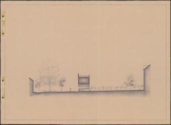 TT1_00007 Volgens onderschrift in potlood tekening van het Jan Nieuwenhuizenplein met Weeshuis te Edam