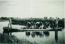 HGOM00000019 foto 1956;genomen vanaf de Jaagweg met op de achtergrond Warder;eeuwen lang ging bijna al het vervoer in ...