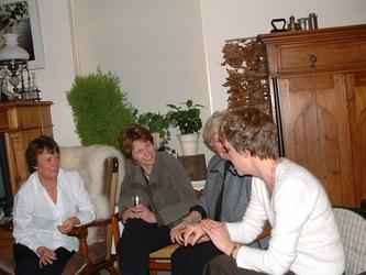 HGOM00000565 Gerry van der Wegen, Saskia Bibo, Wil Vink, Lia Dekker