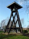 HGOM00000579 De klokkenstoel op de plaats van de in 1970 gesloopte N.H. Kerk. Adres: Begraafplaats. Eigenaar: Dorpsraad ...