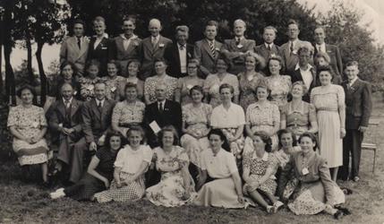 HGOM00001391 Zangvereniging Middelie 28 juli 1949 1e prijs en 3e prijs concours. Namen bekend bij Oud-Middelye.