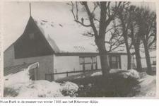 HGOM00001483 Huize Bark in de sneeuw