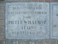 HGOM00000598 Gevelsteen OBS Middelie eerste steen gelegd door Pieter Willemsz Tuijn