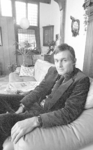 RJ000001018 Piet Dankert in zijn monumentale woning in Edam. (NNC 7 juli 1976)