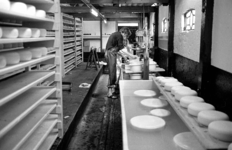 RJ000000897 Jan Boom in de kaasmakerij van de proef boerderij van Jan van der Snoek aan het Roomeinde. (NNC 23-06-1978)