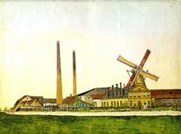 UPL000000005 Papiermolen 'de Eendracht' te Wormer in 1888Aanvankelijk oliemolen. In 1727 omgebouwd tot papiermolen. Na ...