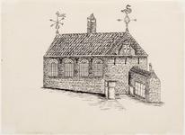 WAT001020891 20e eeuwse tekening van de Lutherse kerk met consistoriekamer, als in 1712