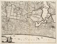 WAT001019821 Overzichtskaart van het beheersgebied van de Uitwaterende Sluizen in 4 bladen. Blad 4: Alkmaar, Haarlem