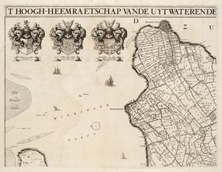 WAT001019818 Overzichtskaart van het beheersgebied van de Uitwaterende Sluizen in 4 bladen. Blad 1: Enkhuizen, ...