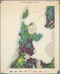 WAT001019845 Overzichtskaart van de landbouw waterhuishouding in Noord-Holland met de grondwaterstanden tijdens de winter.
