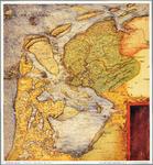 WAT001019853 Overzichtskaart van Nederland met de Zuiderzee en Waddenzee, Noord-Holland, Friesland en de kust van ...