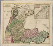 WAT001019855 Overzichtskaart van het Noorderkwartier van Noord-Holland met kaartje van de Waddeneilanden Texel, ...