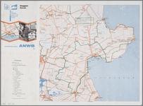 WAT001019898 Toeristische kaart met de Koggen route door Waterland en West-Friesland en bezienswaardigheden.