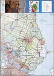 WAT001019903 Topografische kaart met fietsroutes in Waterland; Beemster route, Zeevang route, Veenweide-Wormer route, ...