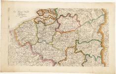 WAT001019823 Overzichtskaart van het zuidelijke gedeelte van de Nederlanden met de provincies die in opstand kwamen in 1830.