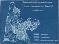 WAT001020313 Overzichtskaart van de kop van Noord-Holland met aangegeven het stemgedrag van gemeenten.