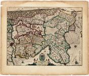 WAT001020342 Kaart van Noord-Holland met de nog niet ingepolderde Schermeer en Heerhugowaard