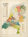 WAT001019827 Overzichtskaart van de militaire bataljonsdisdistricten in Nederland.