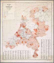 WAT001019832 Overzichtskaart van Nederland met bestuurlijke indeling van de provincies in kringgedeelten.