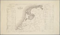 WAT001019838 Militaire overzichtkaart van Nederland in 9 bladen met titelblad; bladwijzer.