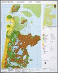 WAT001019851 Overzichtskaart met reconstructie van Noord-Holland anno 1350 met toenmalige bewoning, bedijking en ...