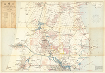 WAT001019900 Topografische waterkaart voor het watertoerisme met opgave van de afmetingen van de sluizen en bruggen in ...