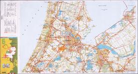 WAT001019905 Topografische kaart van Noord-Holland met fietspaden en ANWB gegevens.