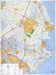 WAT001019906 kaart van Waterland met toeristische gegevens.