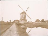 WAT001019817 Poldermolen de Kathammer bij de wegsplitsing Katwoude/Volendam.
