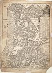 WAT001019852 Overzichtskaart van Noord-Holland met een gedeelte van Zuid-Holland en Utrecht met bewoning en bedijking.