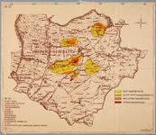 WAT001019923 Kaart met aangegeven de mate van indroging in de polder Waterland en omgeving.