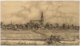 WAT001021049 Gezicht op het dorp Ilpendam met de kerk.