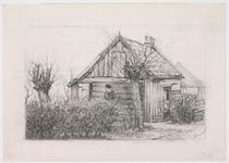 WAT001020979 Woning aan 't Oosteinde waar klaas Jonges alias klaas van de Sluis woonde omstreeks 1905. Kees van de ...