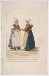 WAT001020834 Twee Marker vrouwen in klederdracht; gehuwd en verloofd.