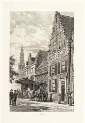 WAT001020861 Kaasmarkt en Jan Nieuwenhuizenplein, met huis van de Maatschappij tot Nut van 't Algemeen, de Waag, de ...