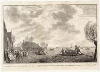 WAT001020871 Als gevolg van een zware noordwester storm brak in januari 1916 de Waterlandse Zeedijk tussen Monnickendam ...