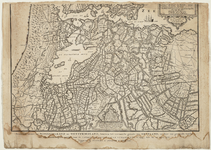 WAT001020260 Gedeelte van de overzichtskaart van Noord-Holland; het tweede gedeelte betreft Zuid-Holland en Utrecht met ...