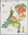 WAT001020287 Overzichtskaart met de grondsoorten en percentage te kaliarme gronden in Nederland.