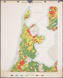 WAT001020277 Overzichtskaart van de landbouwwaterhuishouding in Noord-Holland tijdens de zomer.
