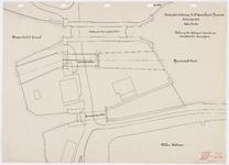 33_TT00033 Situatieschets voor het ontwerp van een derde spuisluis te Nauerna.