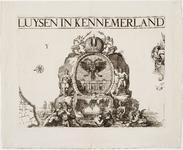 33_KA00312 Topografische kaart van het beheersgebied van de Uitwaterende Sluizen in 16 bladen. Blad 3: wapen van het ...