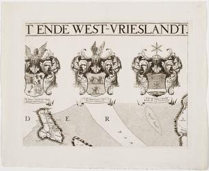 33_KA00313 Topografische kaart van het beheersgebied van de Uitwaterende Sluizen in 16 bladen. Blad 4: familiewapens ...