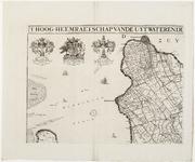 33_KA00334 Overzichtskaart van het beheersgebied van de Uitwaterende Sluizen in 4 bladen. Blad 1: Enkhuizen, Medemblik. ...