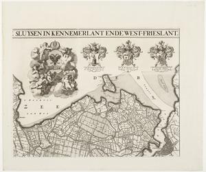 33_KA00335 Overzichtskaart van het beheersgebied van de Uitwaterende Sluizen in 4 bladen. Blad 2: Hoorn, Amsterdam. ...
