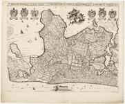 33_KA00339 Overzichtskaart van het beheersgebied van Uitwaterende Sluizen met het wapen van Uitwaterende Sluizen en ...